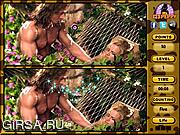 Флеш игра онлайн Джордж в джунглях. Найти отличия / George Of The Jungle Spot 6 Diff