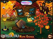 Флеш игра онлайн Дух Бустера на кладбище / Ghost Buster
