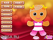 Флеш игра онлайн Свидание Джинджер / Gingerbread Cookie Decoration
