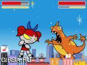Флеш игра онлайн Godzilla fight