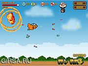 Флеш игра онлайн Опасный полет / Go Go Gunship