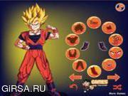 Флеш игра онлайн Гоку Одеваются / Goku Dress Up
