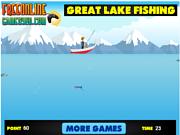 Флеш игра онлайн Озеро Рыбалка / Great Lake Fishing