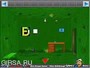 Флеш игра онлайн Зеленая комната. Освобождение / Green Box Room Escape