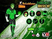 Флеш игра онлайн Наряд для супергероя / Green Lantern Dressup