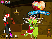 Флеш игра онлайн Поцелуй Гринча / Grinch Kissing
