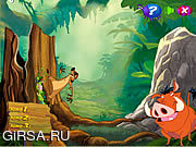 Флеш игра онлайн Timon and Pumbaa's Grub Ridin'
