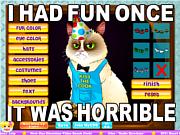 Флеш игра онлайн Сворливая кошечка / Grumpy Cat