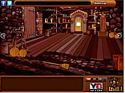 Флеш игра онлайн Хэллоуин Жуткий Дом Побег