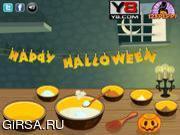 Флеш игра онлайн Пирог на Хэллуин / Halloween Cup Cake