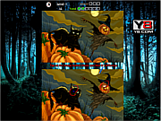 Флеш игра онлайн Хэллоуин - Найди отличия / Halloween Differences Pro