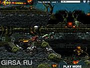 Флеш игра онлайн Кладбищенские гонки на Хэллоуин / Halloween Graveyard Racing