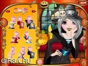 Флеш игра онлайн Макияж Хэллоуина / Halloween Makeover