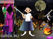 Флеш игра онлайн Halloween Cute Dressup