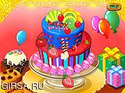 Флеш игра онлайн Happy Newyear Cake