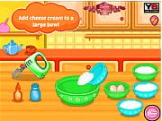 Флеш игра онлайн Hello Kitty Strawberry Cheese Cake