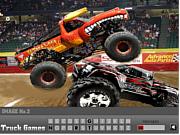 Флеш игра онлайн Джипы - найти буквы / Hidden Monster Truck Alphabets