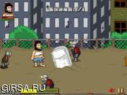 Флеш игра онлайн Зомби против Хобо / Hobo vs Zombies
