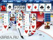 Флеш игра онлайн Hockey Solitaire
