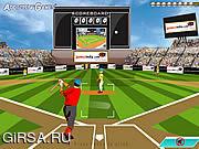 Флеш игра онлайн Бейсбольная мания / Homerun Mania