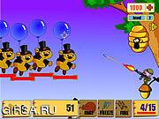 Флеш игра онлайн Пятачок против Винни Пуха / Honey Tree Defence