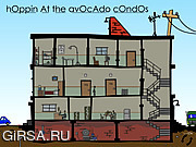 Флеш игра онлайн Прыгая На Авокадо Квартиры / Hoppin' At The Avocado Condos