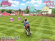 Флеш игра онлайн Лошадь Троеборью 3