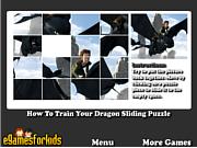 Флеш игра онлайн Как Приручить Дракона Пятнашки / How To Train Your Dragon Sliding Puzzle