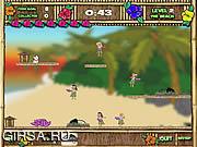 Флеш игра онлайн Толкотня Wahine Hula