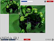 Флеш игра онлайн Халк. Мозайка / Hulk Jigsaw