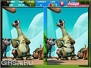 Флеш игра онлайн Ice Age The MeltDown Spot The Difference