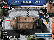 Флеш игра онлайн Зимняя гонка / Ice Cold Chase