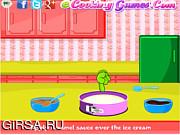 Флеш игра онлайн Пирог с мороженым и фруктами / Ice Cream Sundae Pie