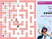 Флеш игра онлайн Жасмин и бабочки / Jasmine Collect Butterflies