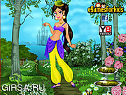 Флеш игра онлайн Жасмин / Jasmine Dress Up Game