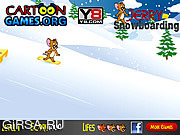 Флеш игра онлайн Сноуборд Джерри