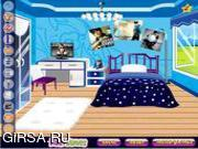 Флеш игра онлайн Джастин Бибер - украшение номера / Justin Bieber Fan Room Decoration