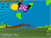 Флеш игра онлайн Веселые бабочки