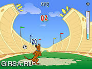 Флеш игра онлайн Скуби Ду - Попади по Мячу / Scooby Doo Kickin It