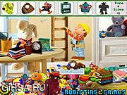 Флеш игра онлайн Найти предметы - Детские мультики / Kids Cartoon Room Hidden Object