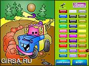 Флеш игра онлайн Дети окраски автомобиля / Kids Coloring Car's