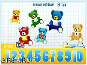 Флеш игра онлайн Kids Counting Teddy Bears