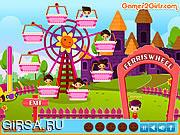 Флеш игра онлайн Забота о малыше / Kids on Ferris Wheel