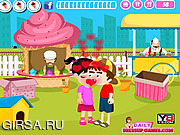 Флеш игра онлайн Дети целуются в парке / Kids Park Kissing