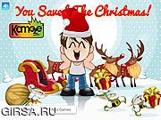 Флеш игра онлайн Рождество на носу / Kids Save The Christmas