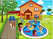 Флеш игра онлайн Декорация детского бассеина / Kids Swimming Pool Decor