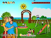 Флеш игра онлайн Романтический поцелуй / Kinder Garten Kissing