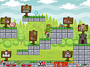 Флеш игра онлайн Рыцарь и Тролль