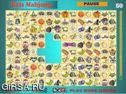 Флеш игра онлайн Подбери пару - Крис / Kris Mahjong 3