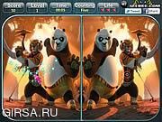 Флеш игра онлайн Найди отличия - Кунг-фу Панда 2 / Kung Fu Panda 2 - Spot the Difference